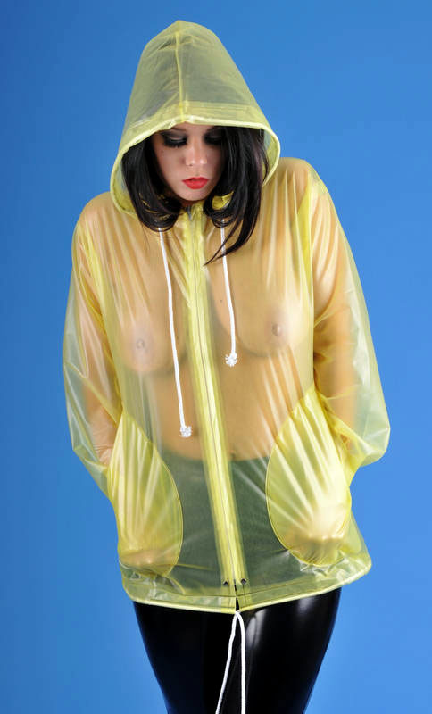 Transparente Regenjacke PVC mit Reissverschluß