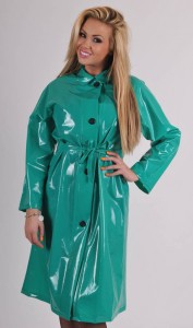 PVC Raincoat Shiny Green