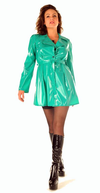 """PVC Trench Coat """"Metro Style"""""""
