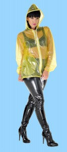 PVC Regenjacke transparent gelb